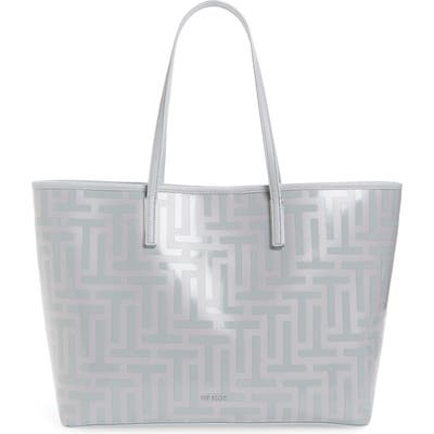 Ted Baker London Eleenor Logo Nylon Shopper Tote - Grey