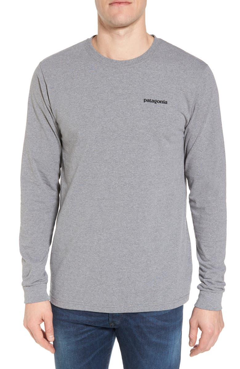 PATAGONIA Responsibili-Tee Long Sleeve T-Shirt, Main, color, GRAVEL HEATHER