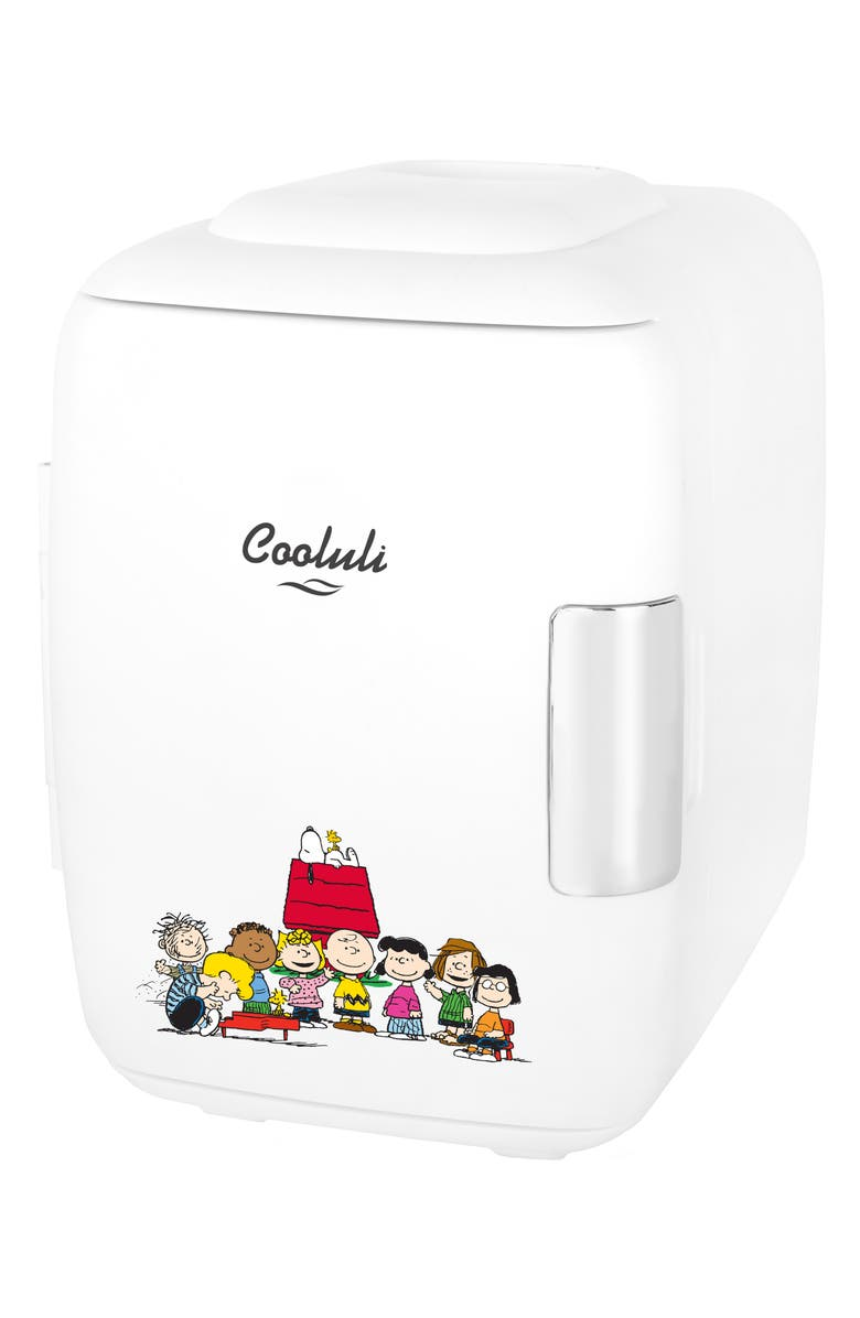 COOLULI x Peanuts<sup>®</sup> 4L Thermoelectric Mini Beauty Fridge & Warmer, Main, color, 100