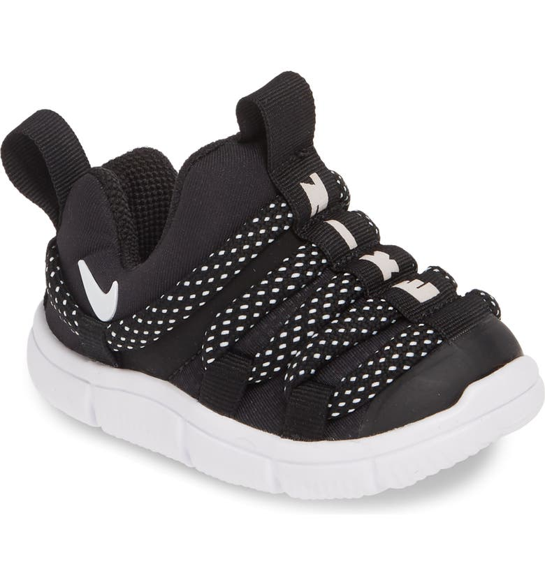 NIKE Novice Slip-On Sneaker, Main, color, BLACK/ WHITE-BLACK