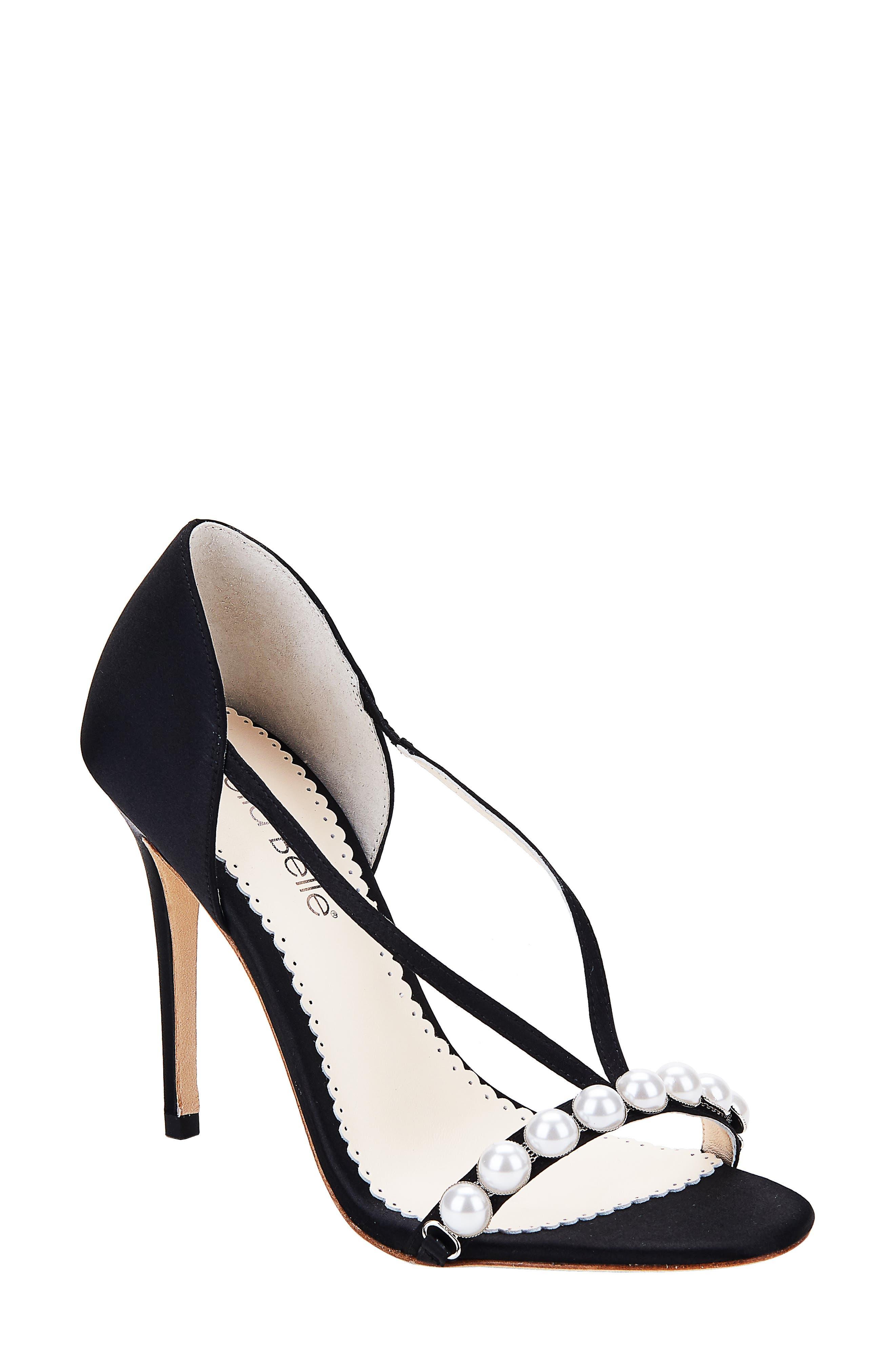 Pearlin Embellished Silk Sandal