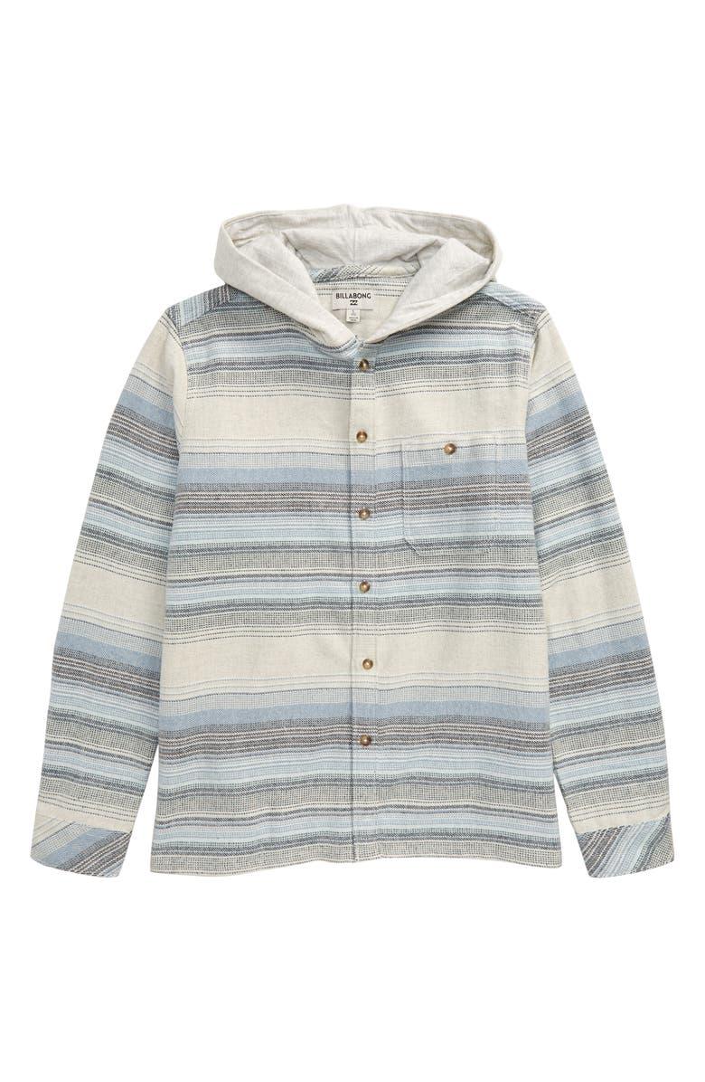 BILLABONG Baja Hooded Flannel Shirt, Main, color, CHINO