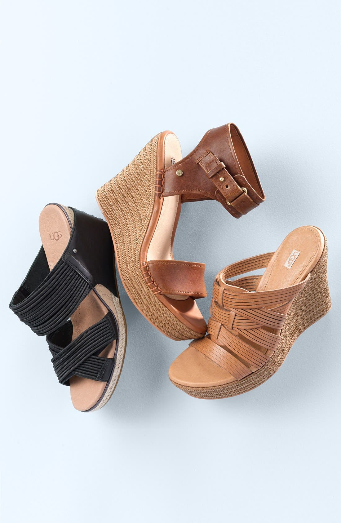 ,                             'Melinda' Platform Wedge Sandal,                             Alternate thumbnail 5, color,                             001