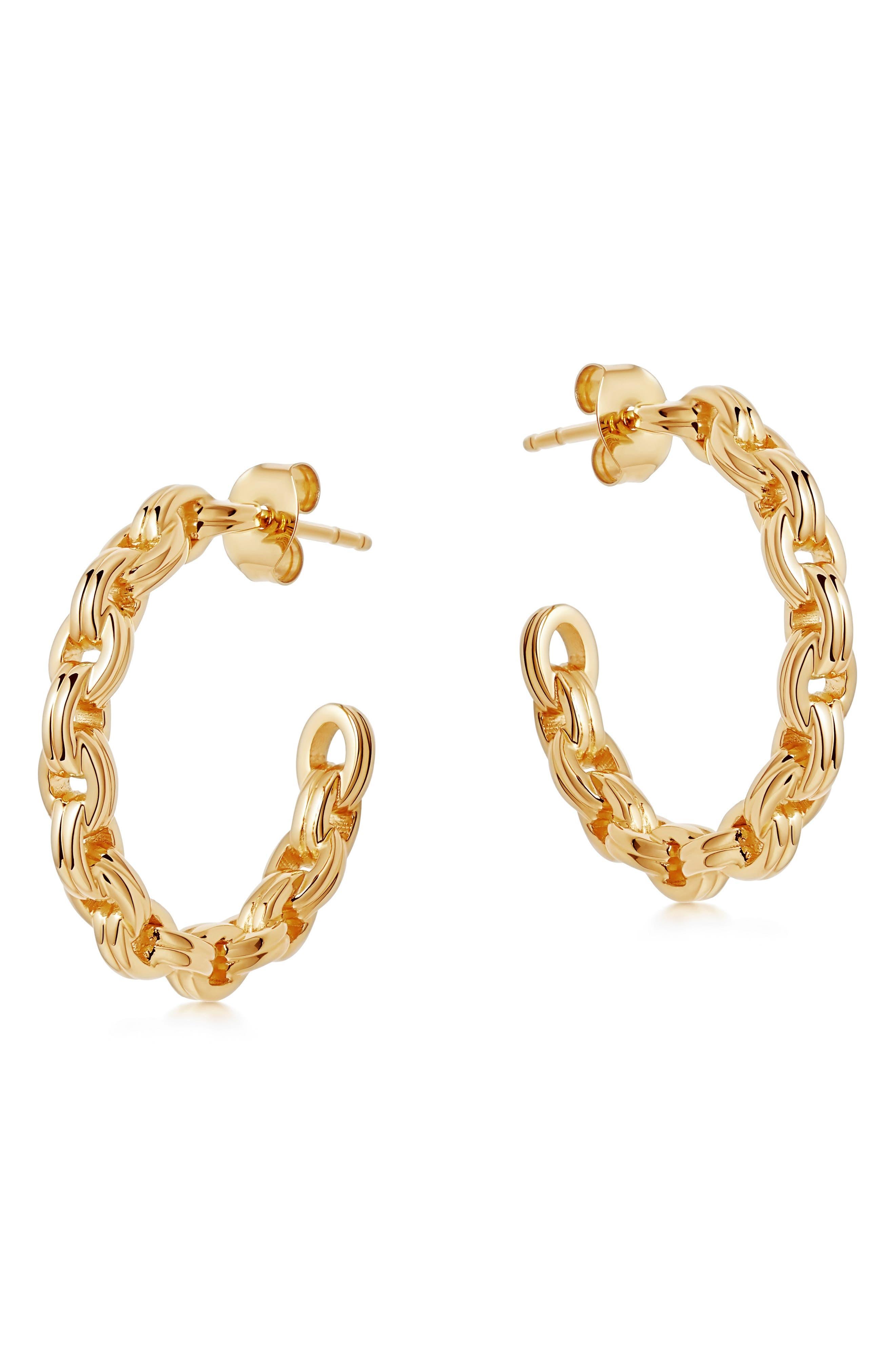 Bond Chain Link Hoop Earrings