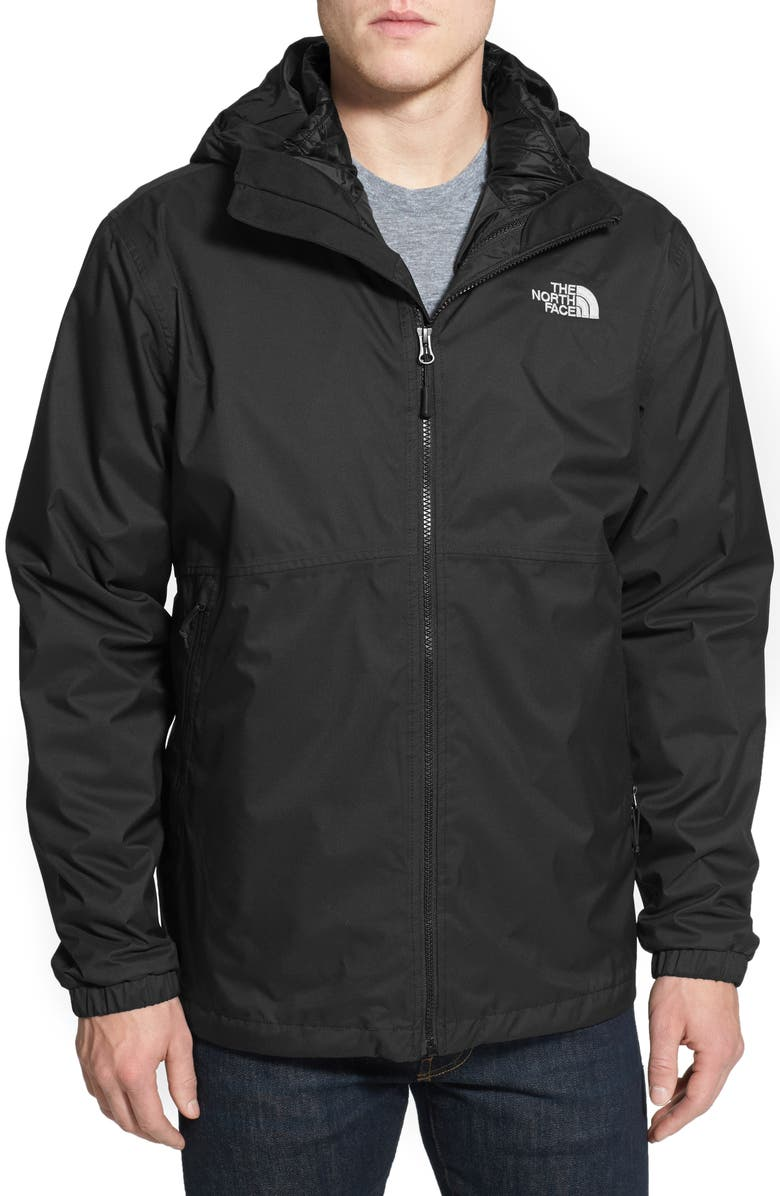 THE NORTH FACE 'All About' TriClimate<sup>®</sup> Waterproof Hooded 3-in-1 HyVent<sup>®</sup> Jacket, Main, color, TNF BLACK/ TNF BLACK