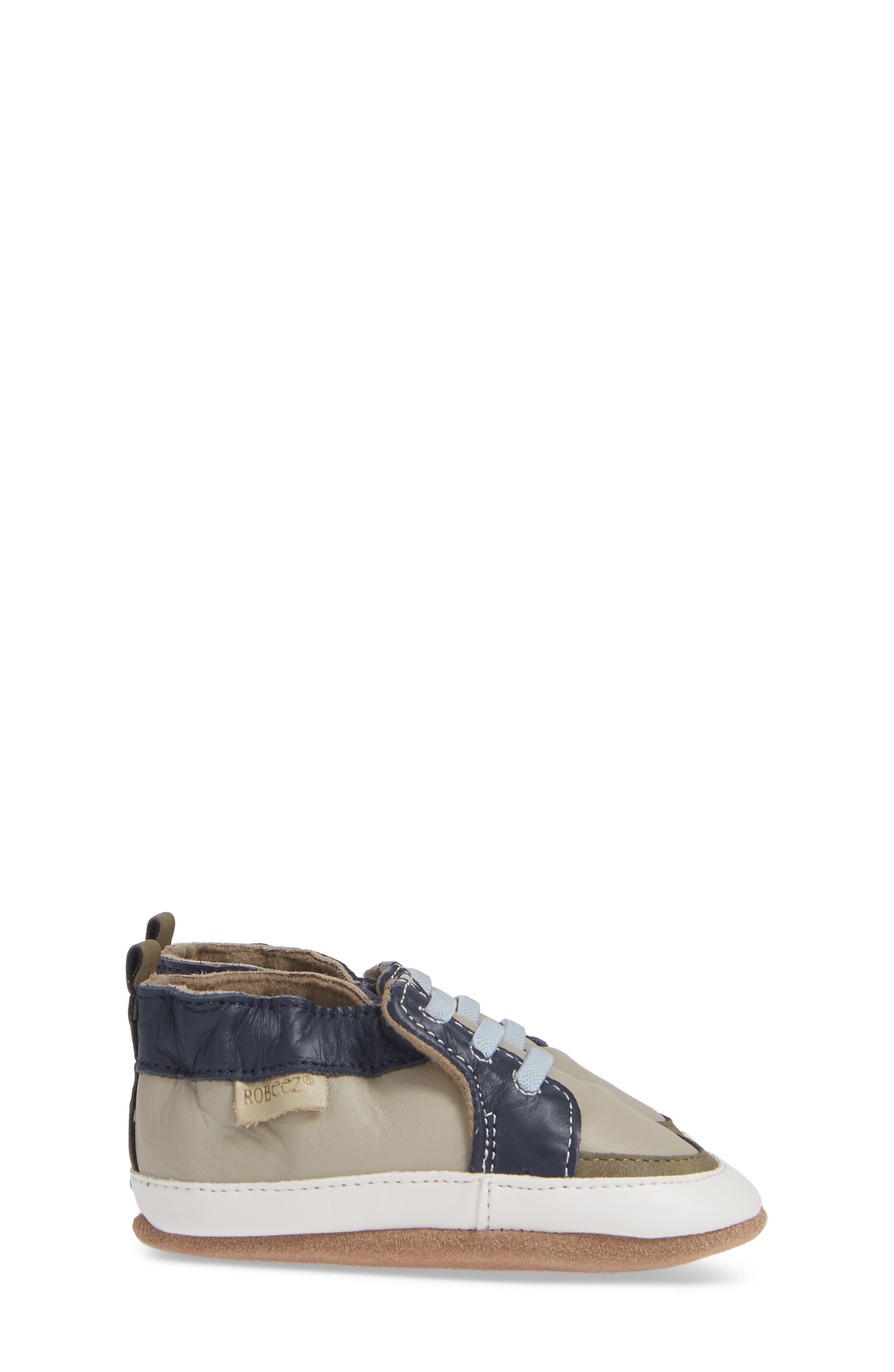 ,                             Arthur Trendy Trainer Crib Shoe,                             Alternate thumbnail 3, color,                             GREY