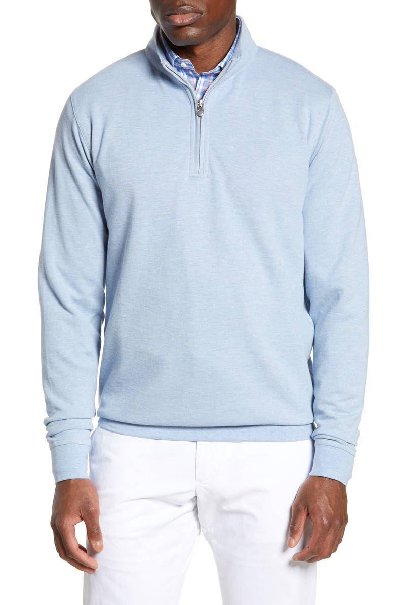 PETER MILLAR Quarter Zip Pullover, Main, color, COTTAGE BLUE