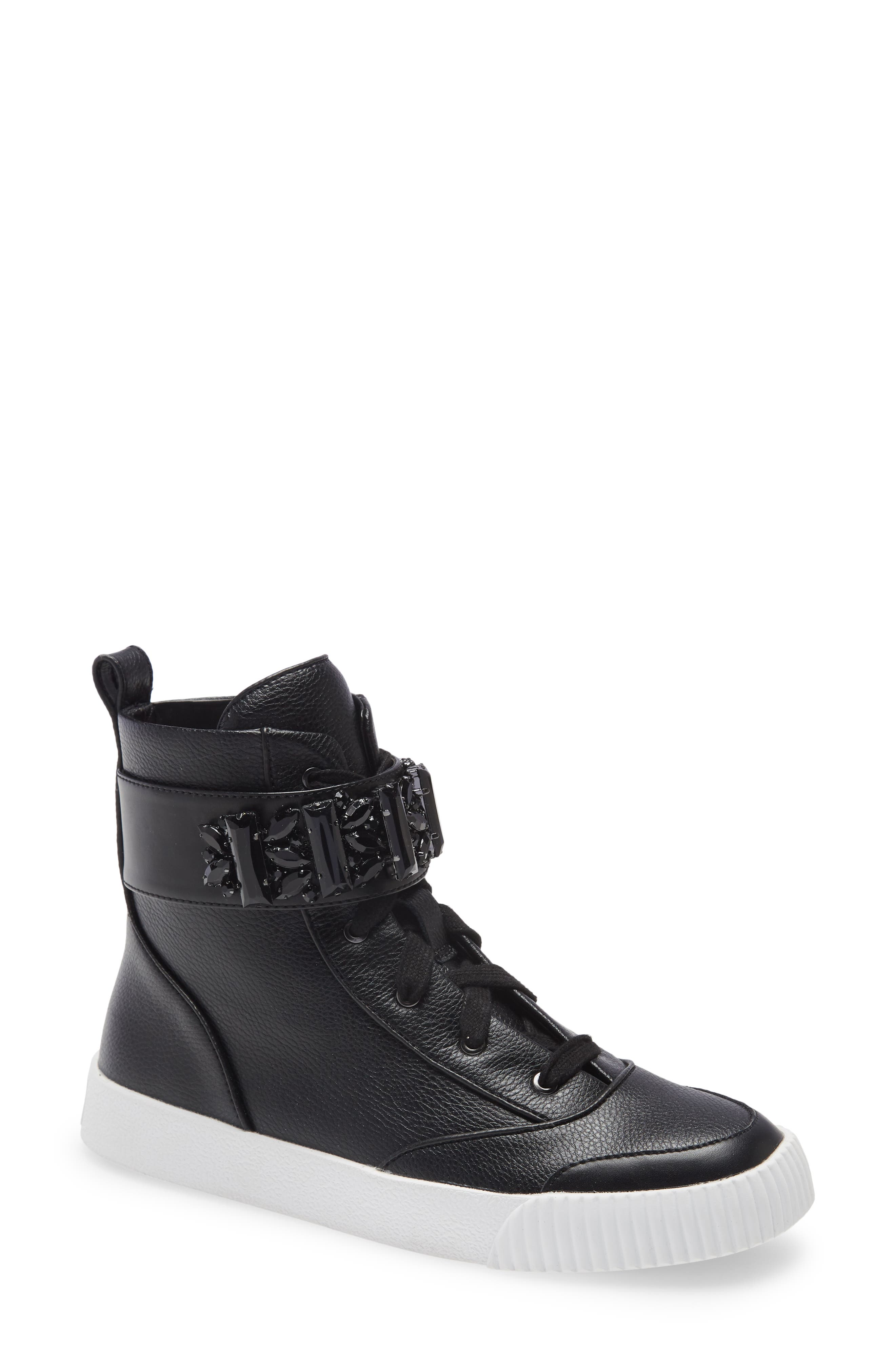 Jeren Crystal Strap High Top Sneaker