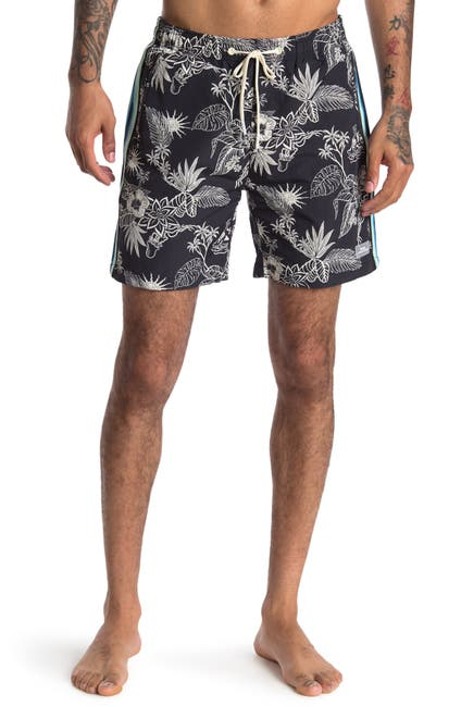 Image of Scotch & Soda Contrast Printed Swim Trunks