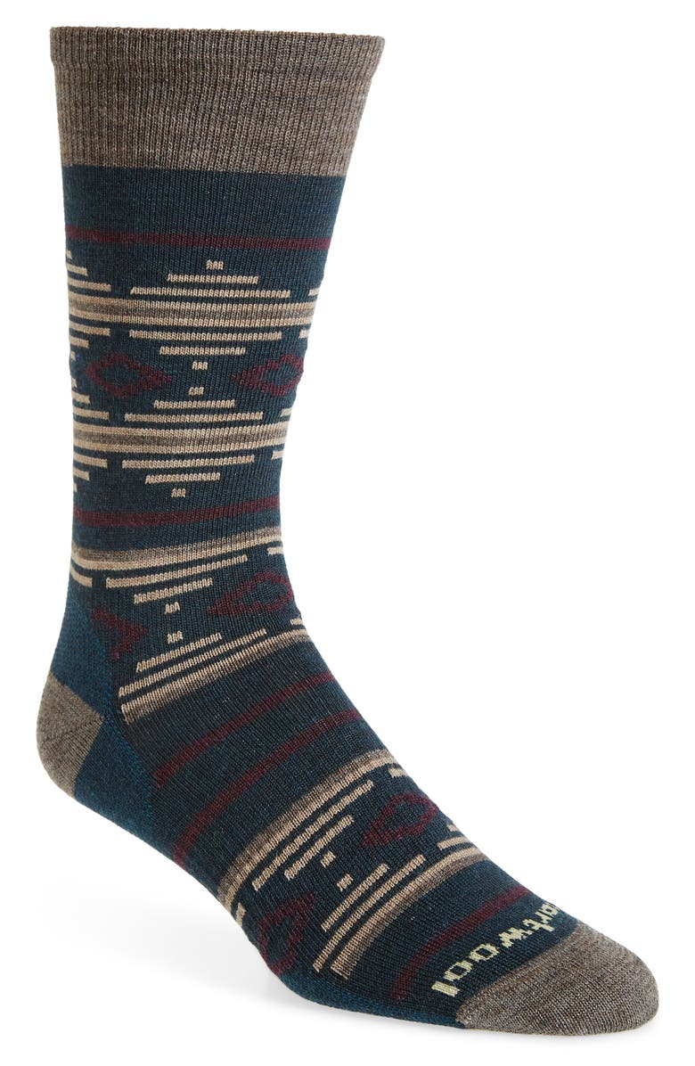SMARTWOOL Premium Alderfer Merino Wool Blend Socks, Main, color, EVERGLADE