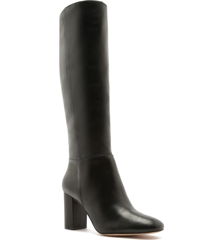 SCHUTZ Bonita Boot, Main, color, BLACK LEATHER