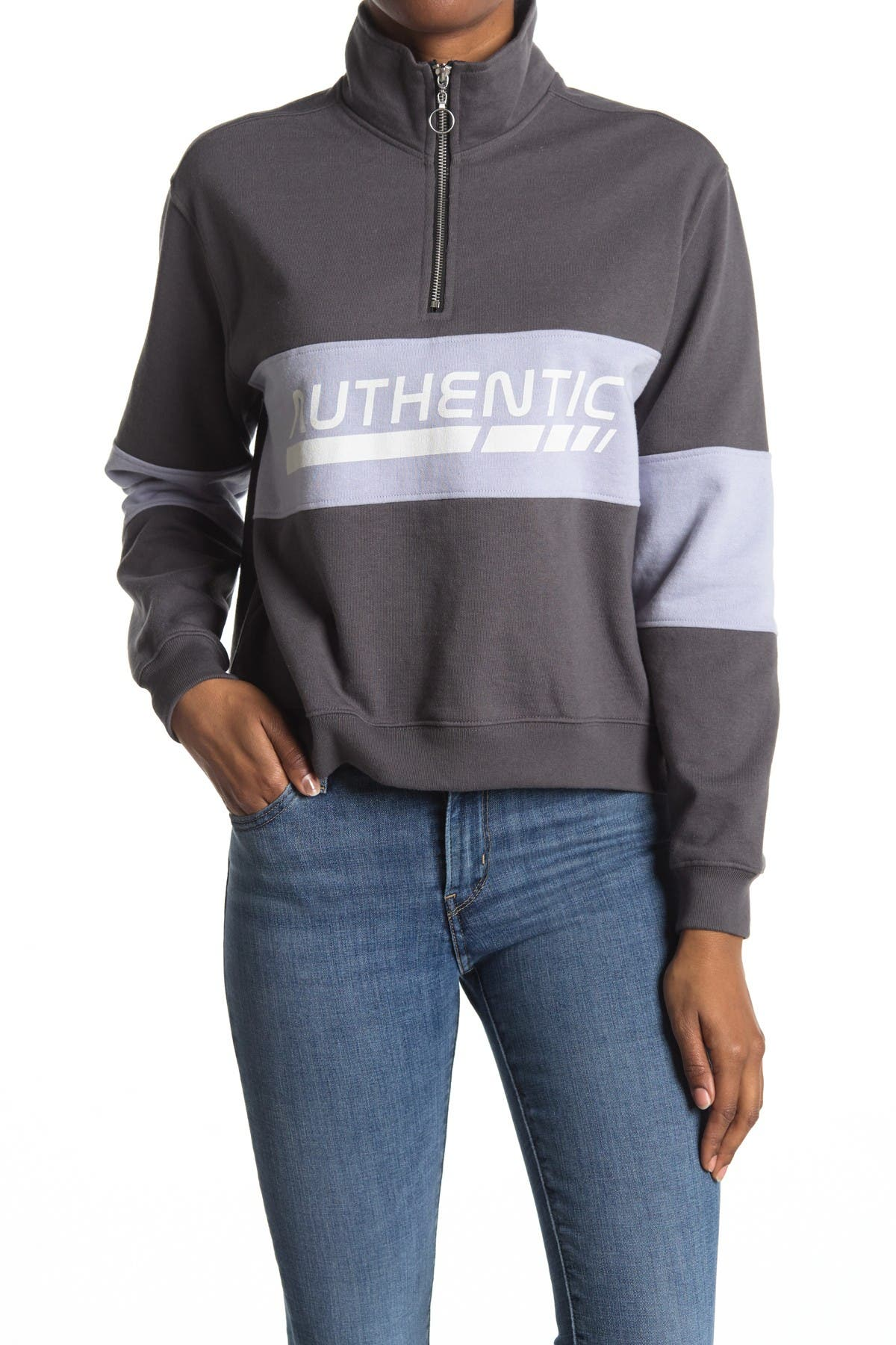 Image of Desert Dreamer Colorblocked Quarter Zip Sweater