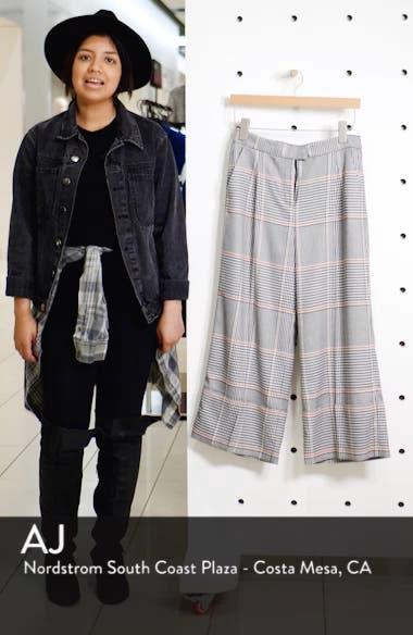 x Atlantic-Pacific Plaid Wide Leg Crop Pants, sales video thumbnail