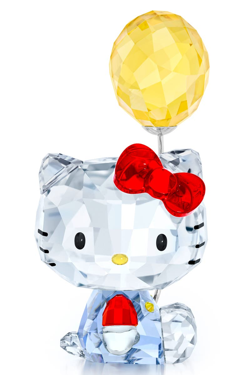 SWAROVSKI Hello Kitty Balloon Crystal Figurine, Main, color, CLEAR/ MULTI