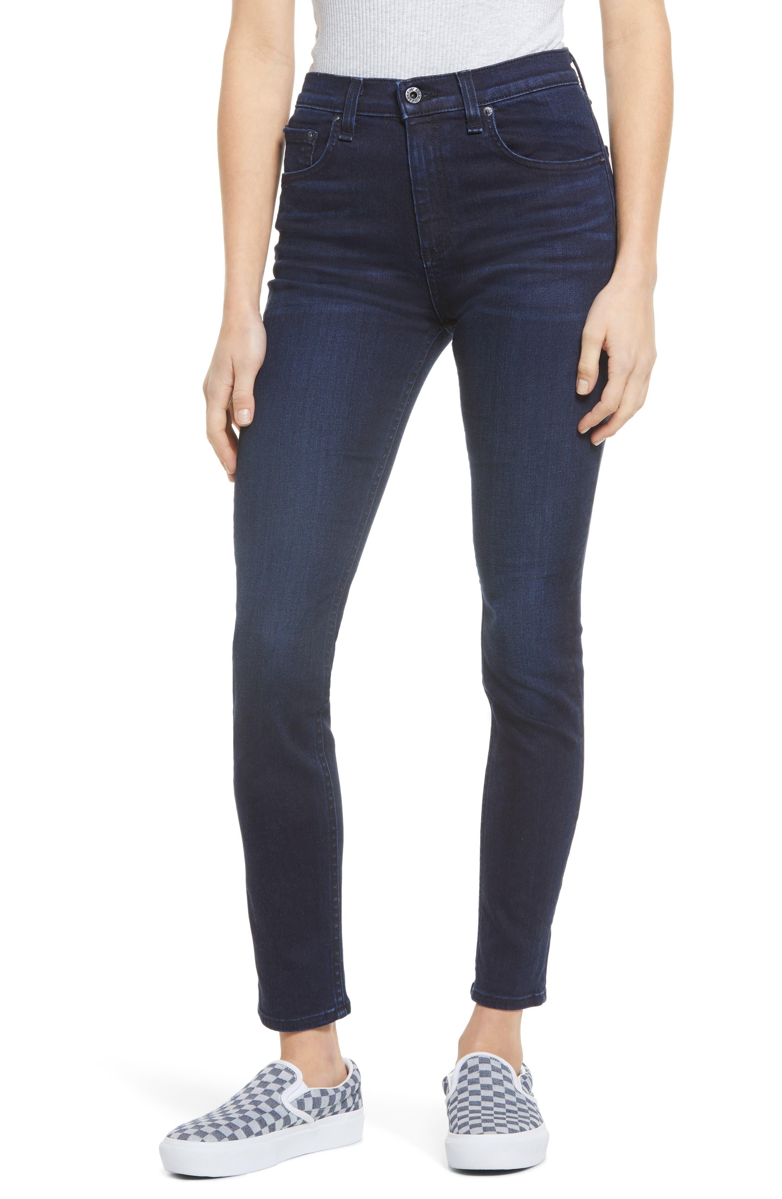 High Waist Ankle Skinny Jeans