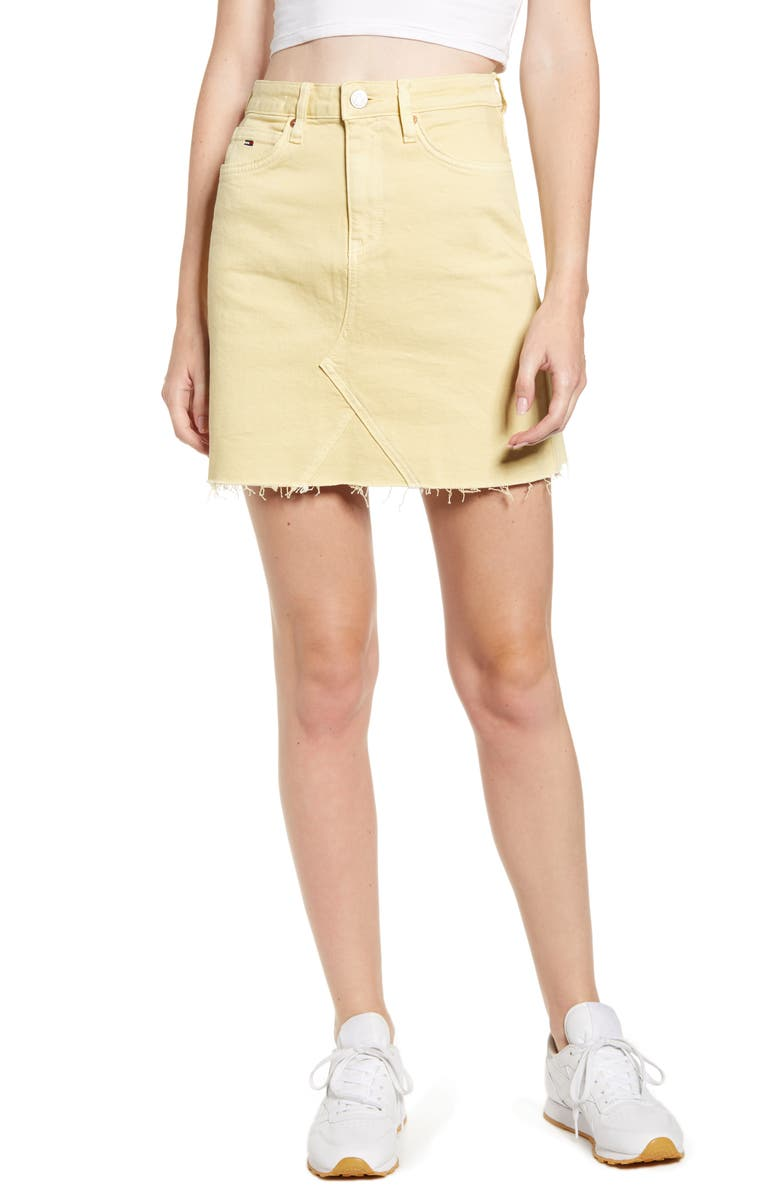 TOMMY JEANS TJW Denim Miniskirt, Main, color, FRENCH VANILLA