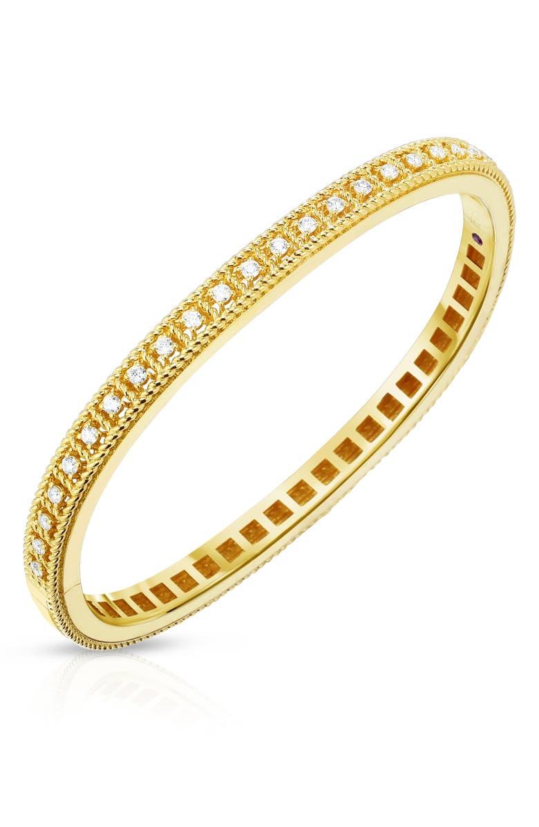 ROBERTO COIN Byzantine Diamond Bracelet, Main, color, YELLOW GOLD