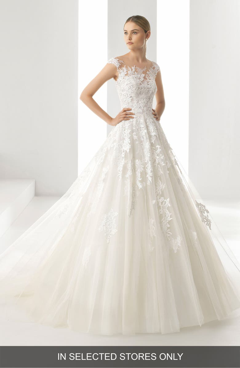 rosa clará denis illusion lace & tulle gown | nordstrom