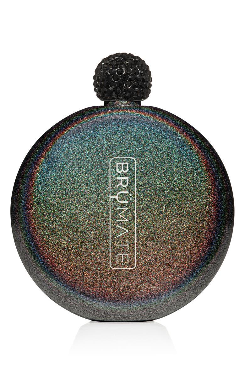 BRÜMATE Glitter Flask, Main, color, GLITTER CHARCOAL