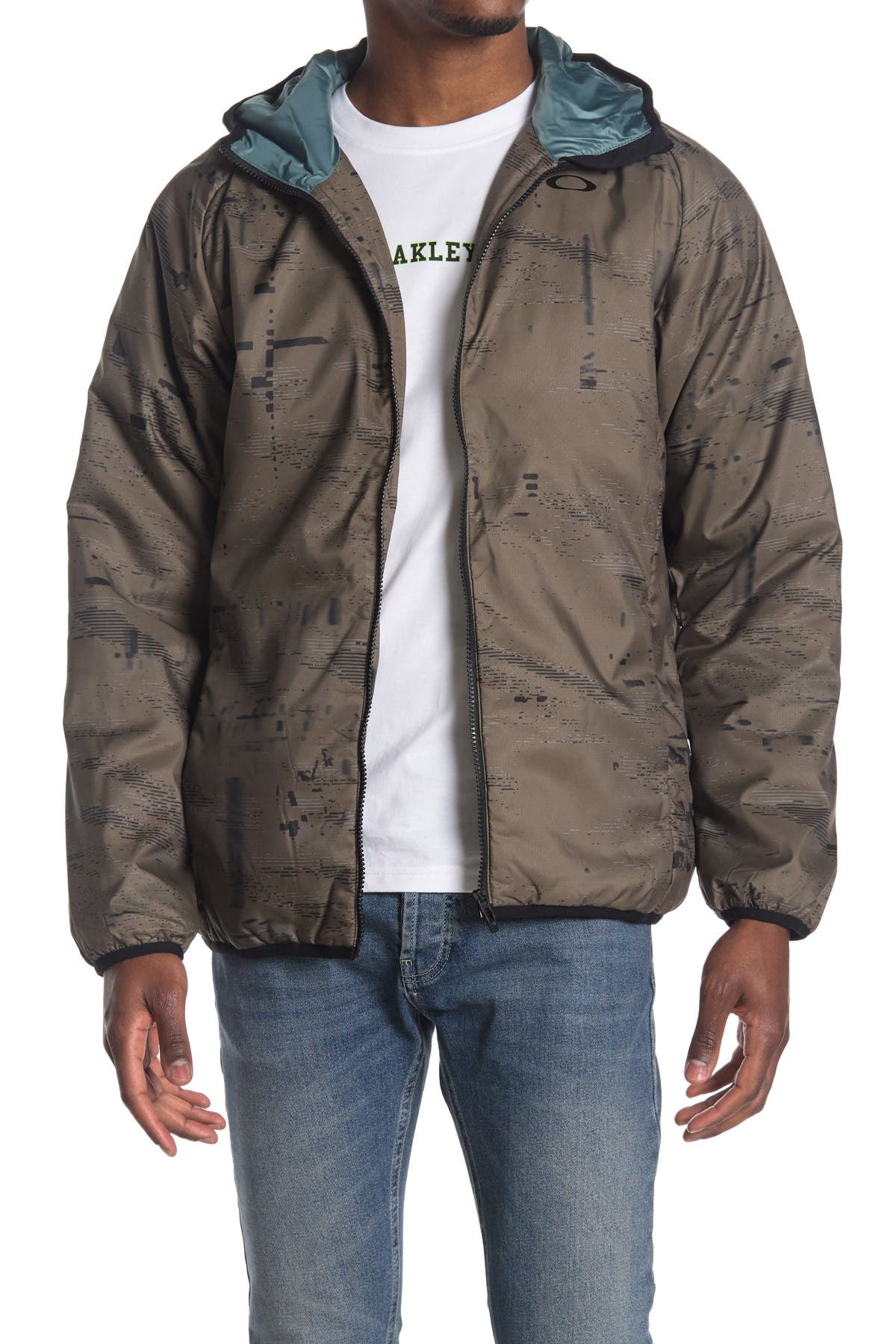 Image of Oakley Enhance Graphic Insulated Hooded Jacket