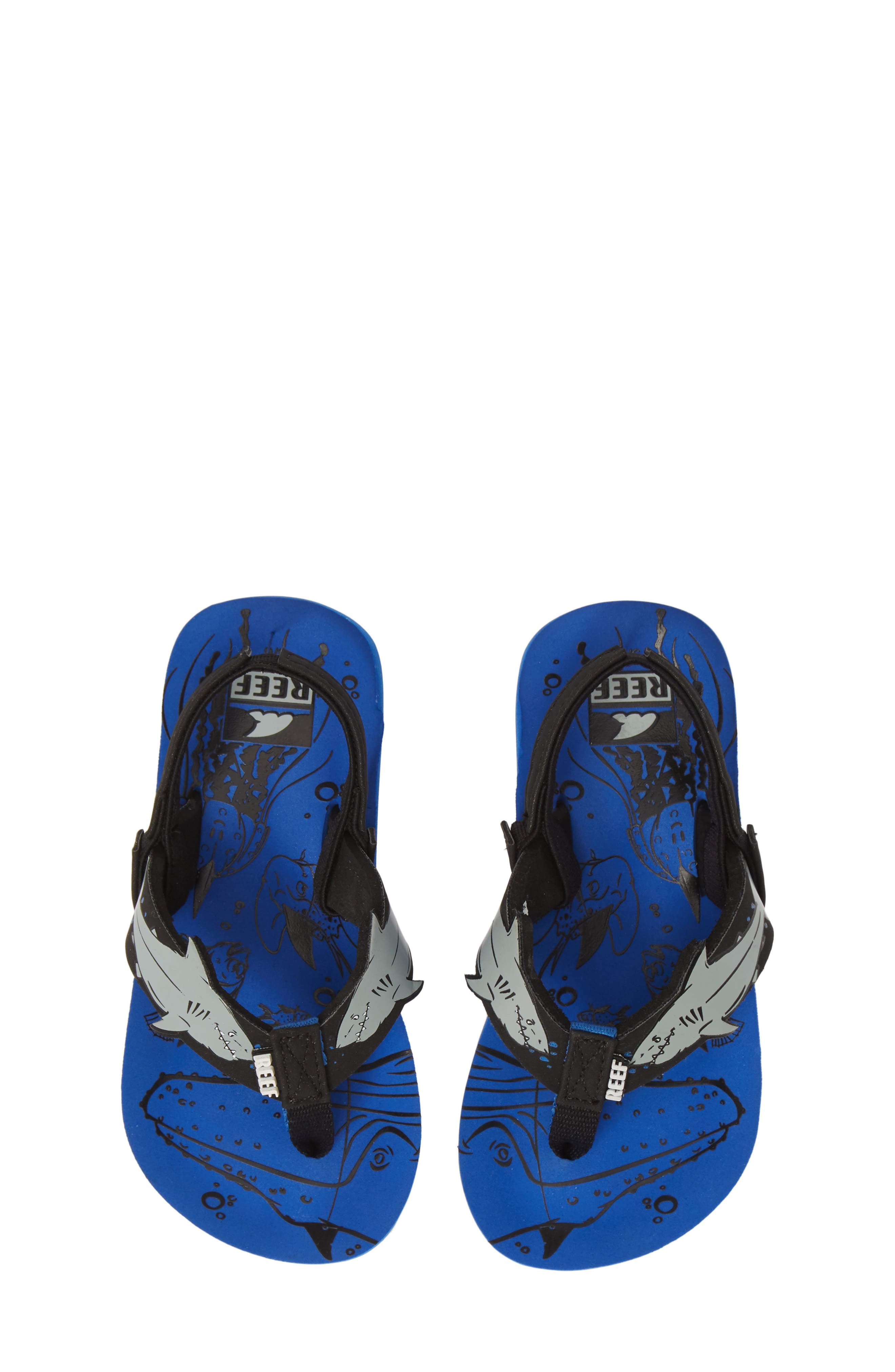 Ahi Shark Flip Flop, Main, color, BLUE