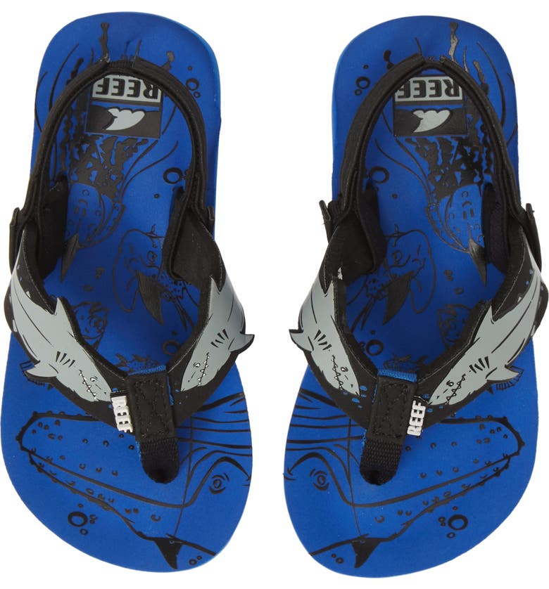 REEF Ahi Shark Flip Flop, Main, color, 423