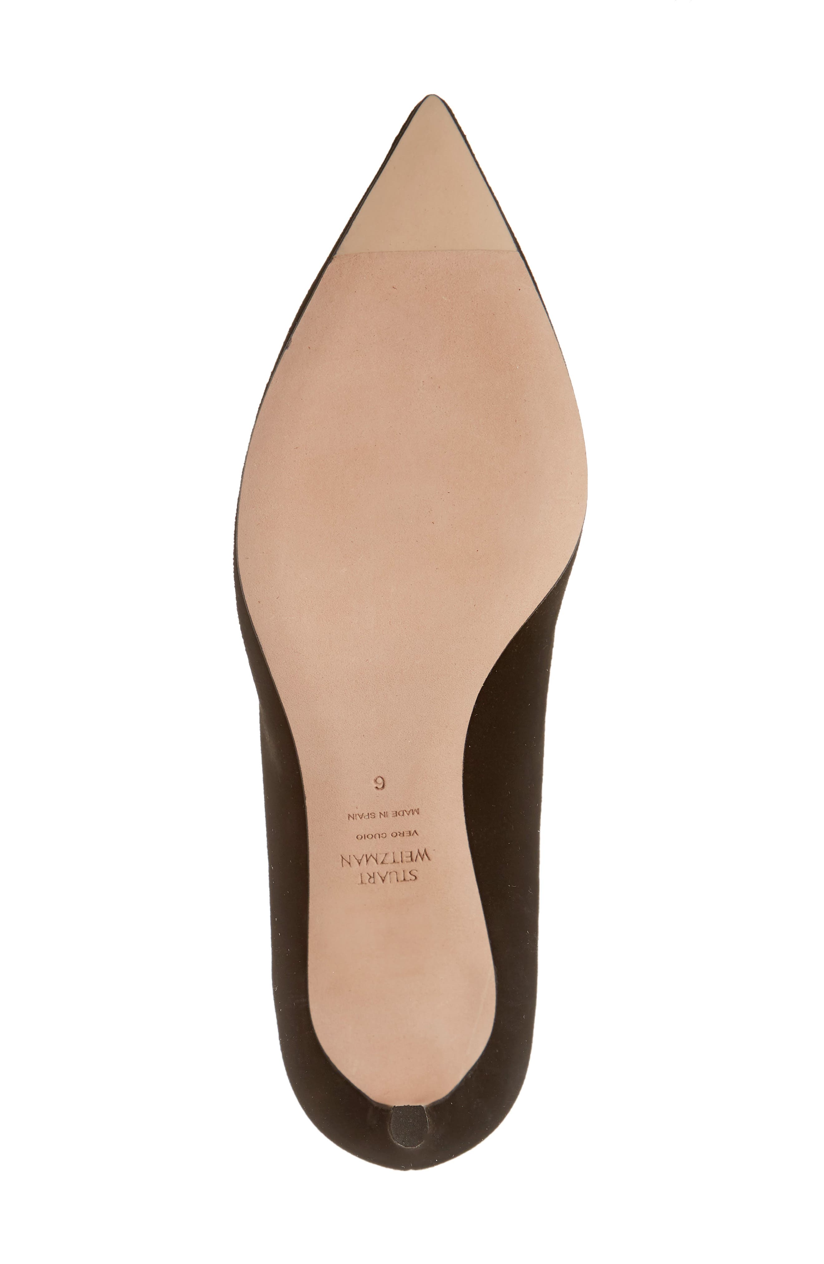 ,                             Anny Pointy Toe Pump,                             Alternate thumbnail 6, color,                             BLACK SUEDE