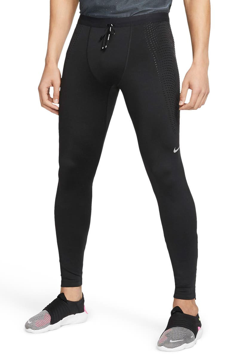 NIKE Dri-FIT Power Running Tights, Main, color, BLACK