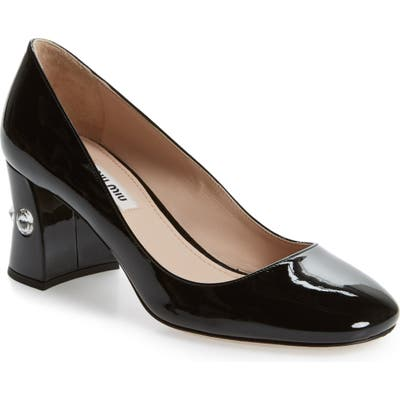 Miu Miu Rocchetto Embellished Pump, Black