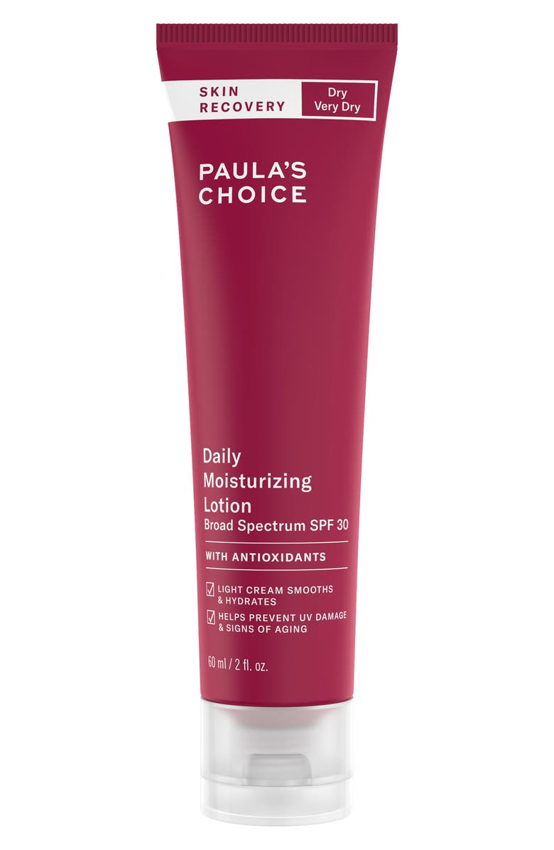 PAULA'S CHOICE Skin Recovery Daily Moisturizing Lotion SPF 30, Main, color, NO COLOR