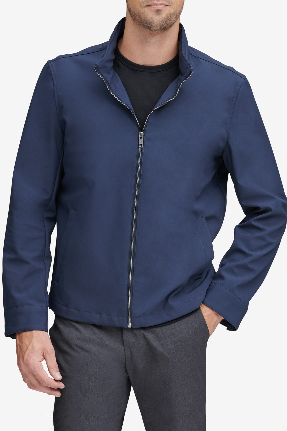 Image of Andrew Marc Finn Bonded Jersey Jacket