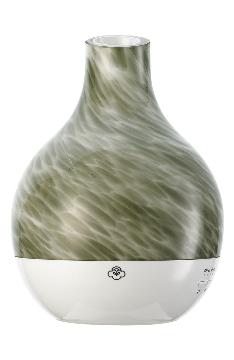 SERENE HOUSE Chimney Green Marbleized Scentilizer Diffuser, Main, color, GREEN