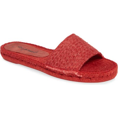 Free People Beach Front Espadrille Slide Sandal, Red