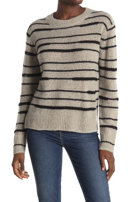 Image of 360 Cashmere Reighn Stripe Cashmere Crew Neck Sweater