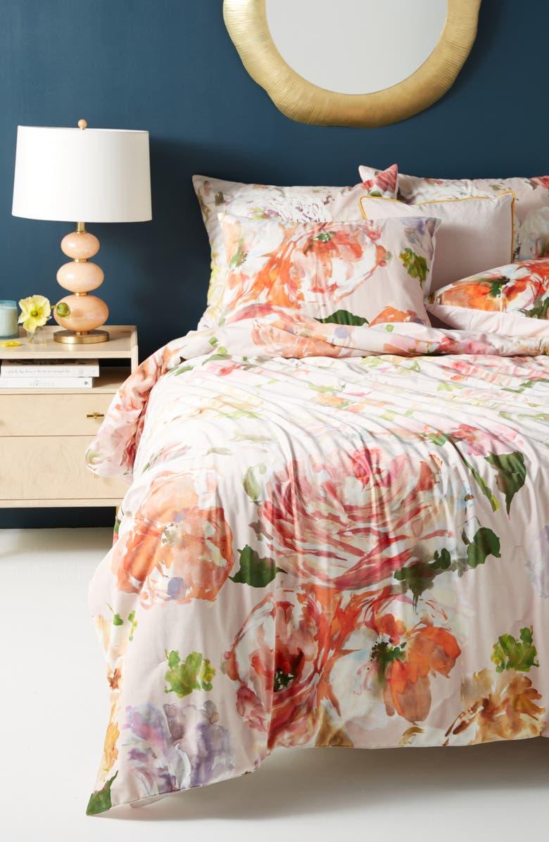 ANTHROPOLOGIE HOME Anthropologie Helen Dealtry Velvet Quilt, Main, color, 650
