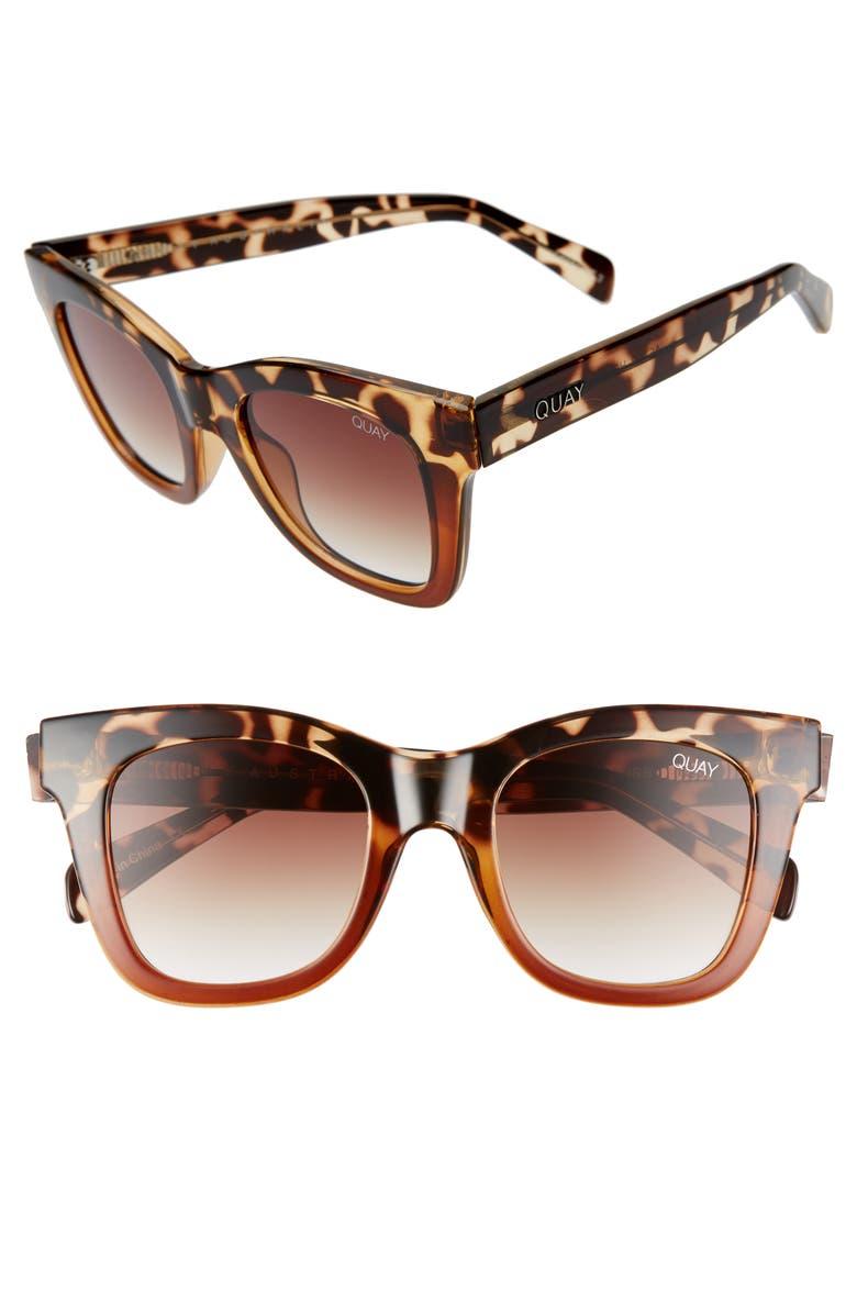 QUAY AUSTRALIA After Hours 50mm Square Sunglasses, Main, color, 208