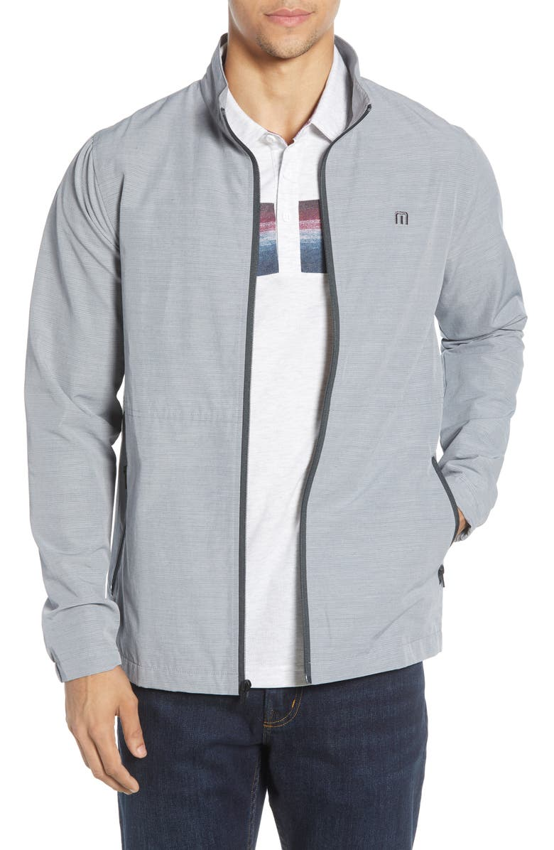 TRAVISMATHEW Above Board Zip Jacket, Main, color, SLEET