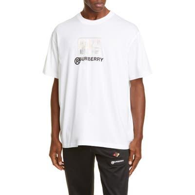 Burberry Adson Logo Crewneck T-Shirt, White