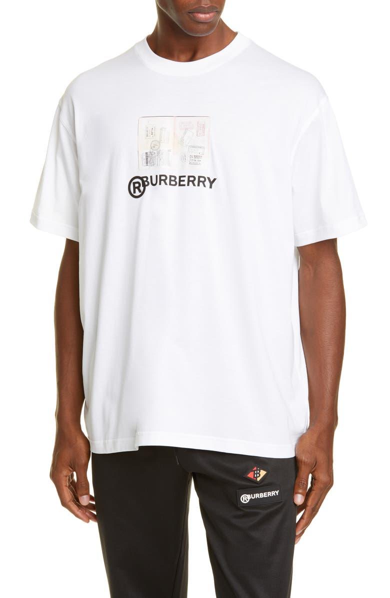 BURBERRY Adson Logo Crewneck T-Shirt, Main, color, WHITE