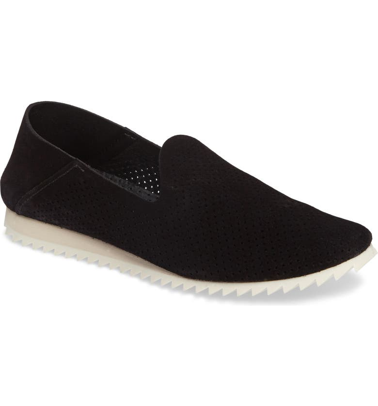 PEDRO GARCIA Cristiane Loafer Flat, Main, color, BLACK CASTORO
