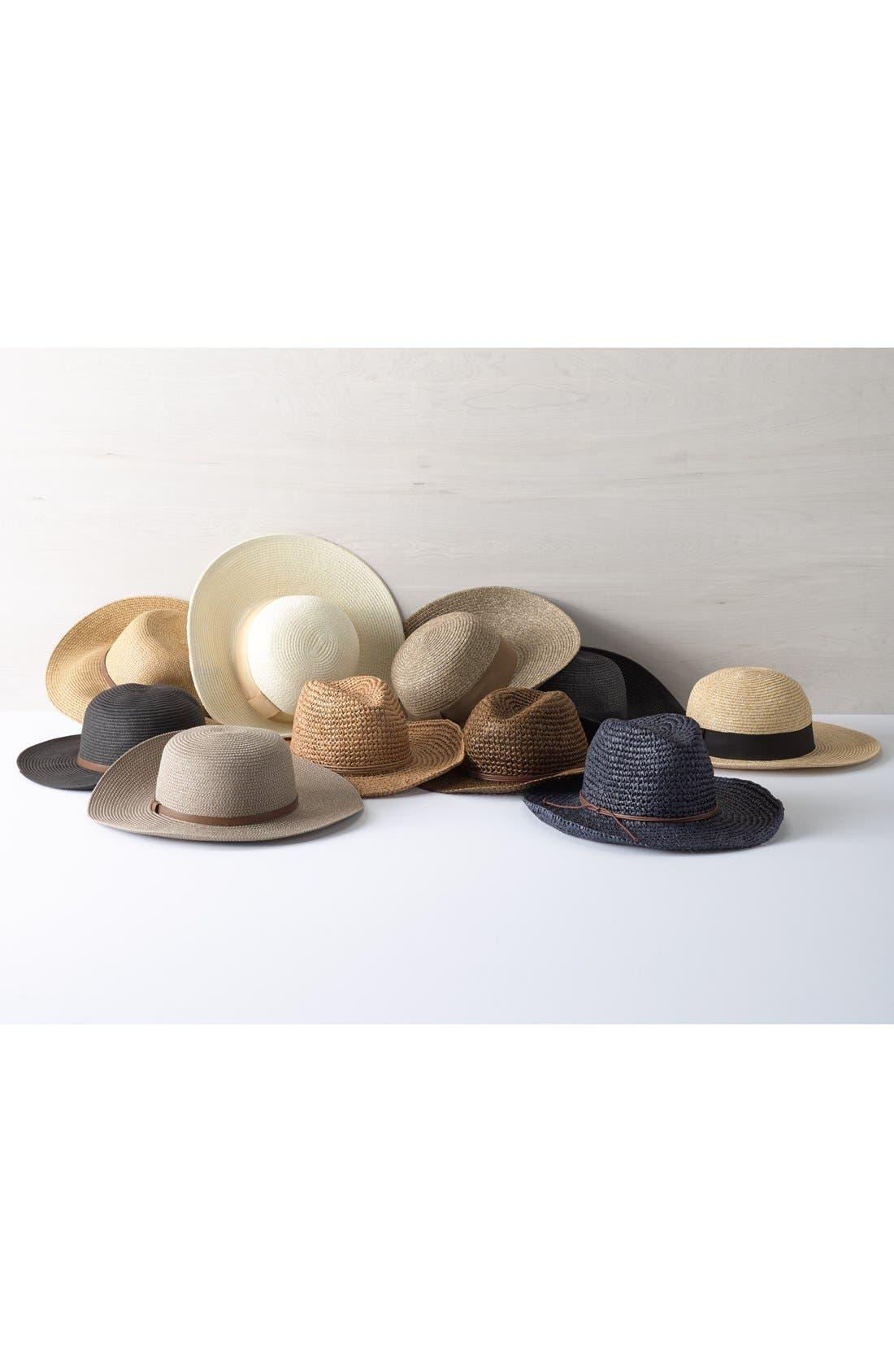 ,                             Straw Floppy Hat,                             Alternate thumbnail 3, color,                             001