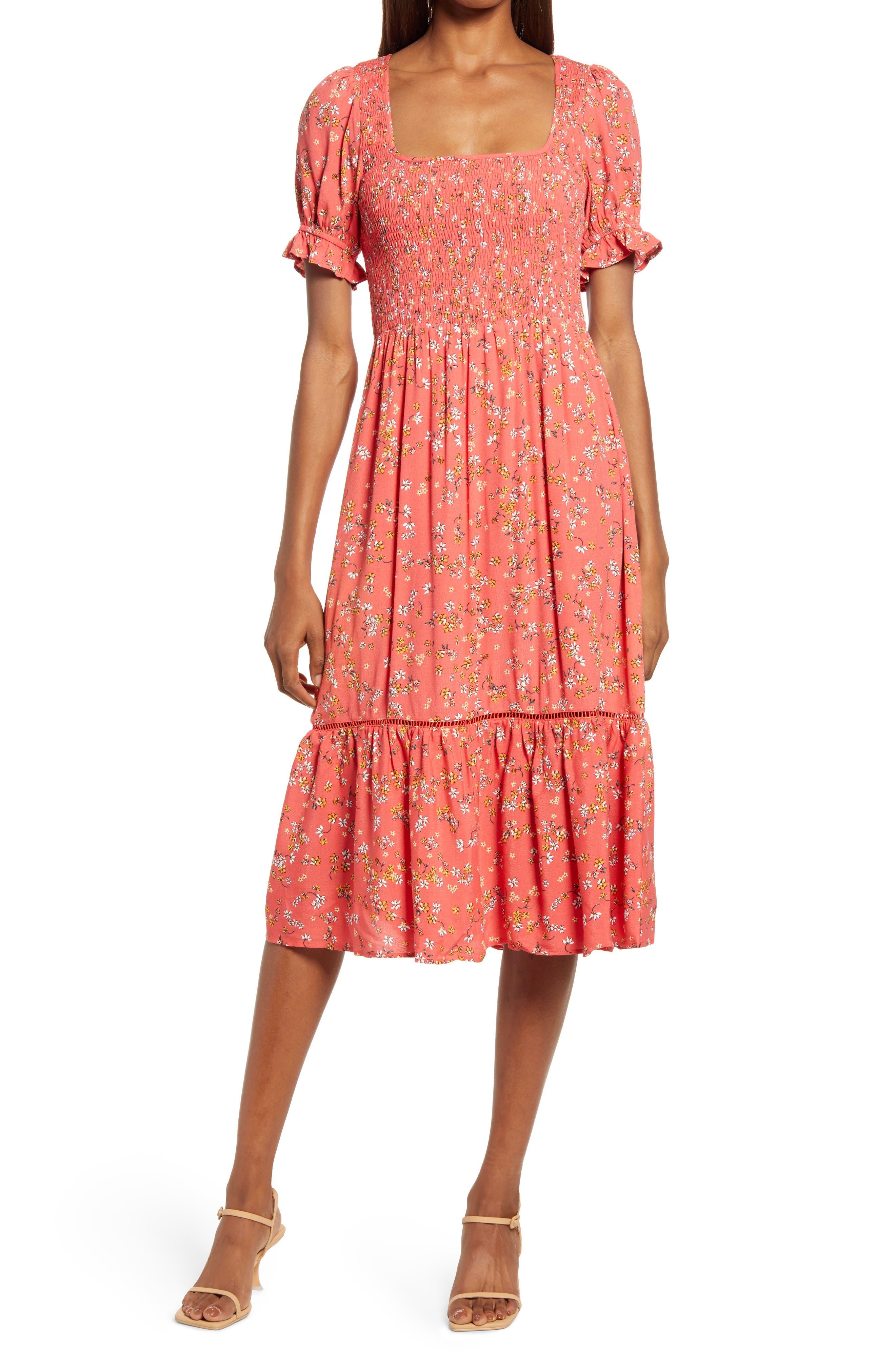 Women's Lost + Wander Sweet Daze Floral Puff Sleeve Dress