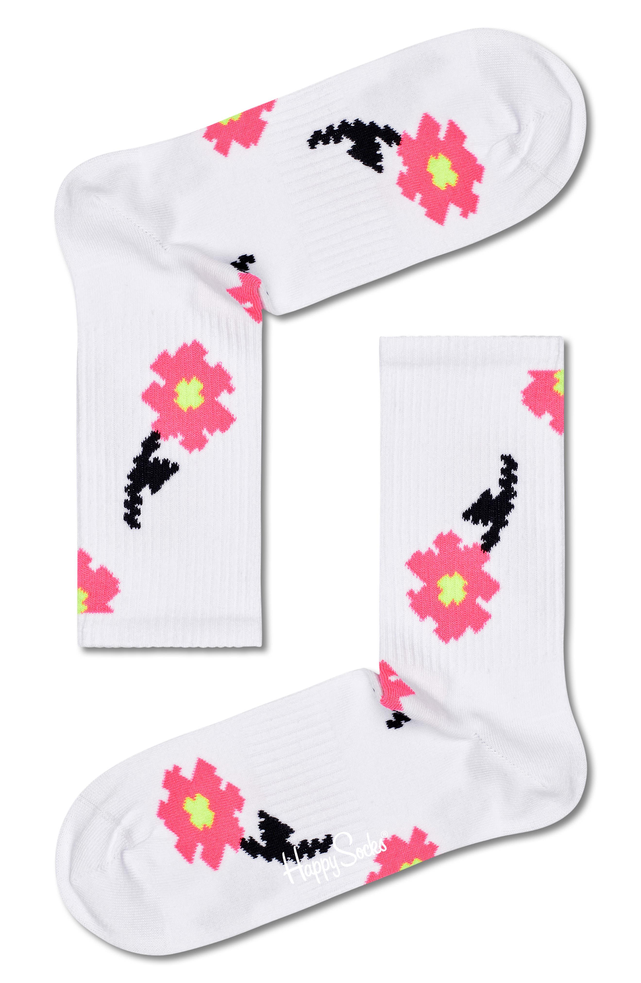 Pixel Flower 3/4-Crew Socks