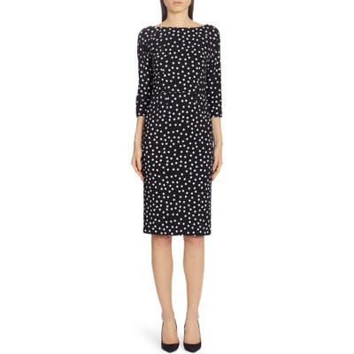 Dolce & gabbana Polka Dot Cady Sheath Dress, 8 IT - Black