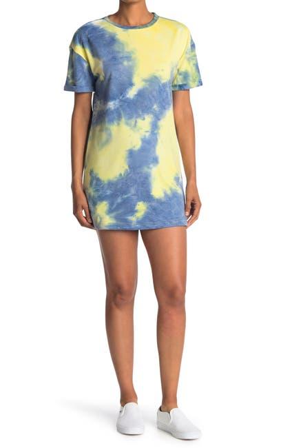 Image of Elodie Tie Dye Crew Neck T-Shirt Dress