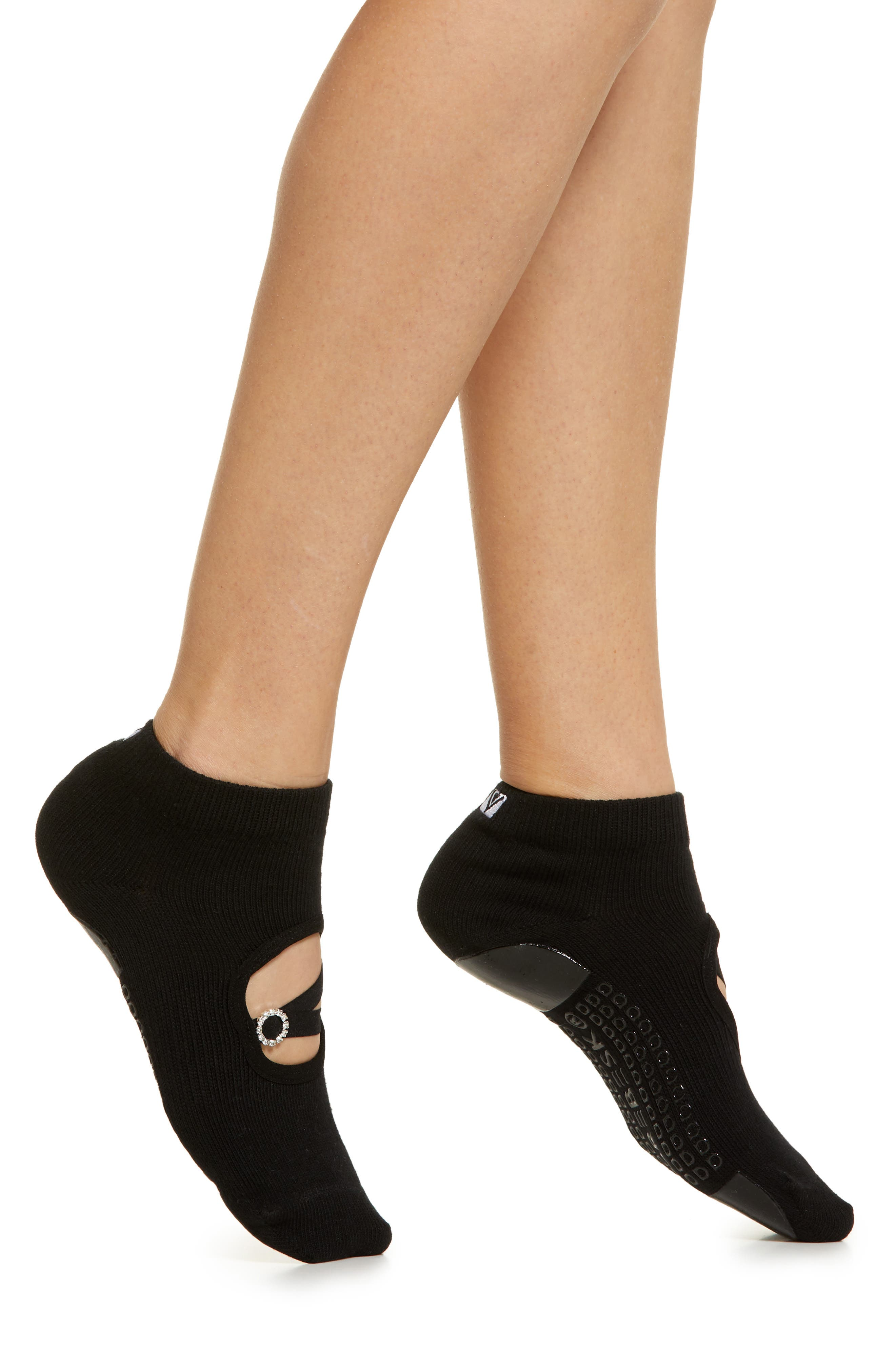 Rhinestone Buckle No-Slip Socks
