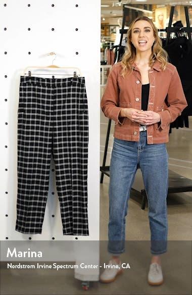 Chic Windowpane Plaid Ankle Slim Pants, sales video thumbnail