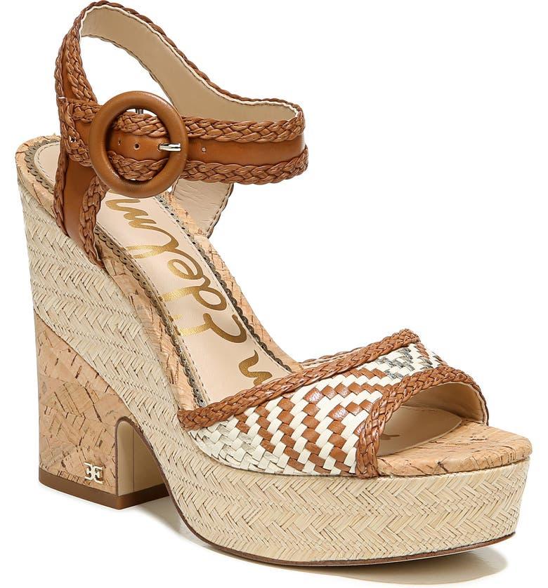 SAM EDELMAN Lillie Platform Sandal, Main, color, SADDLE LEATHER
