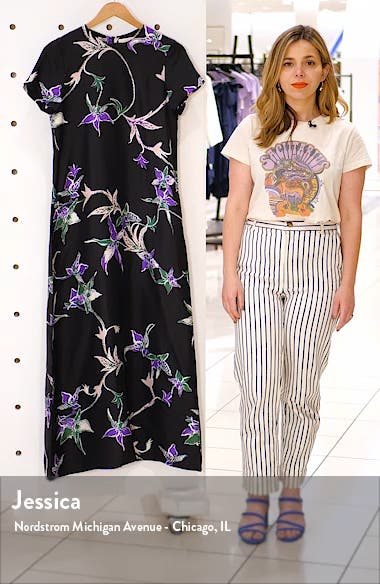 Swing Print Silk Dress, sales video thumbnail