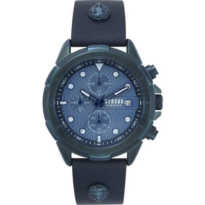 Versus Versace Arrondissement Chronograph Leather Strap Watch, 4m